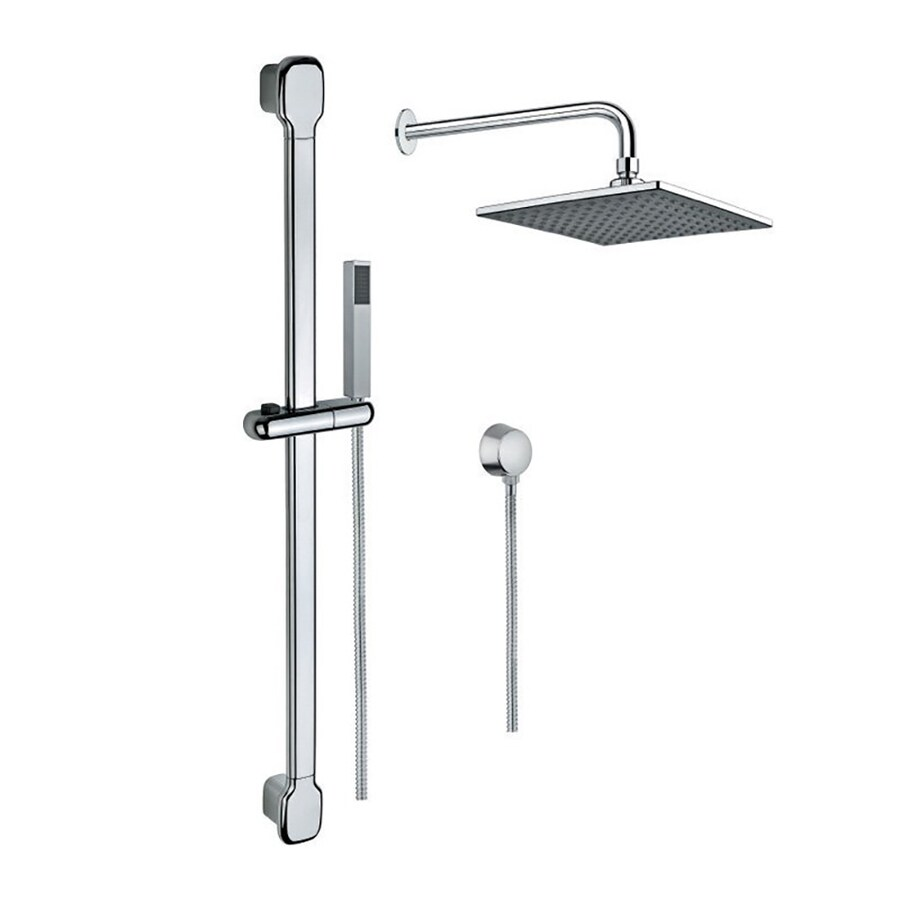 Nameeks Superinox 8.58-in Chrome Showerheads with Hand Showers