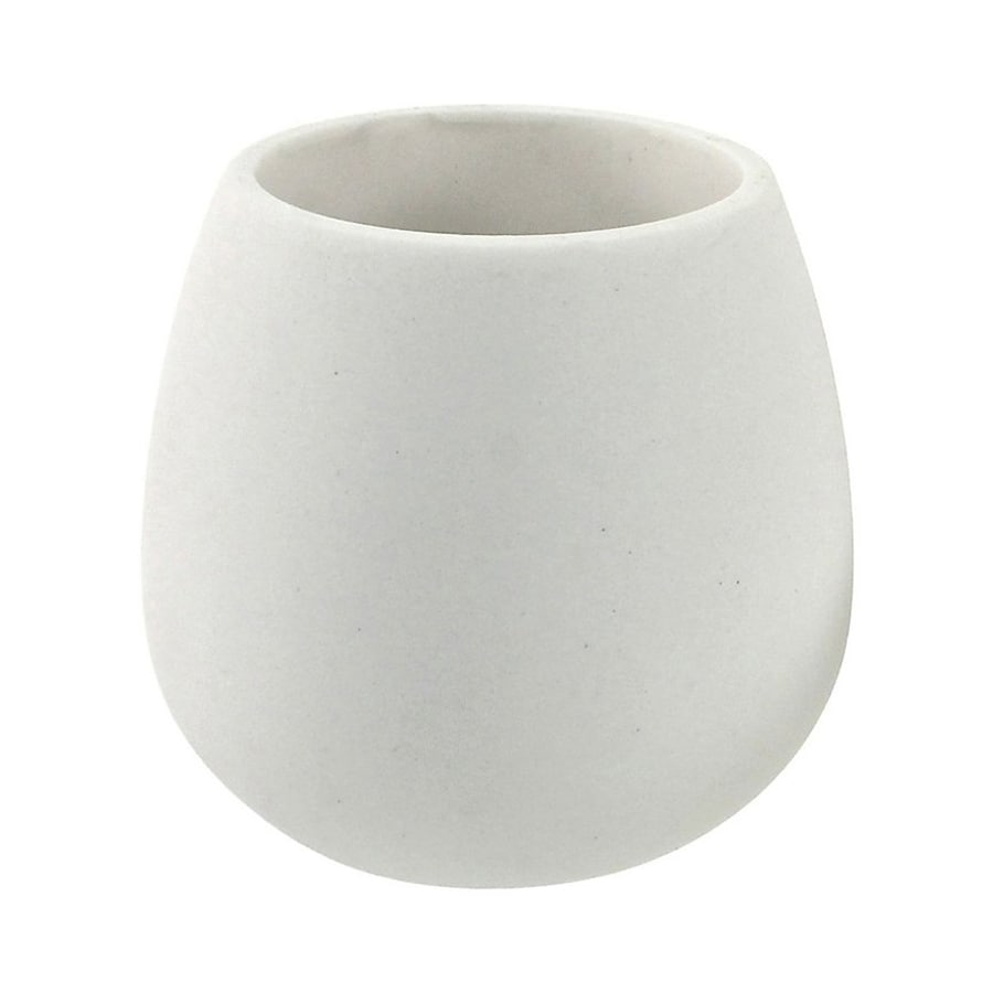 Nameeks Fiona White Ceramic Toothbrush Holder