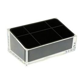 nameeks rainbow black plastic vanity tray