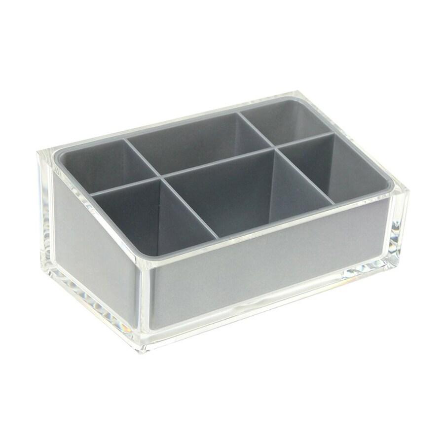 Nameeks Rainbow Silver Plastic Vanity Tray