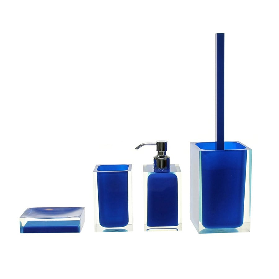 Nameeks Rainbow Blue Plastic Bathroom Coordinate Set
