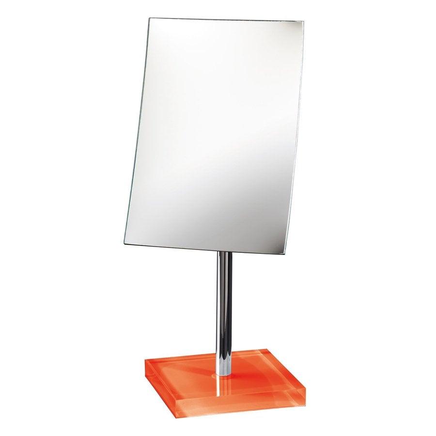 Nameeks Gedy Orange Plastic Magnifying Countertop Vanity Mirror