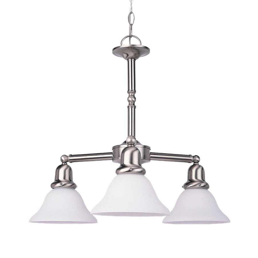 Sea Gull Lighting Sussex 22-in 3-Light Brushed Nickel Industrial Shaded Chandelier
