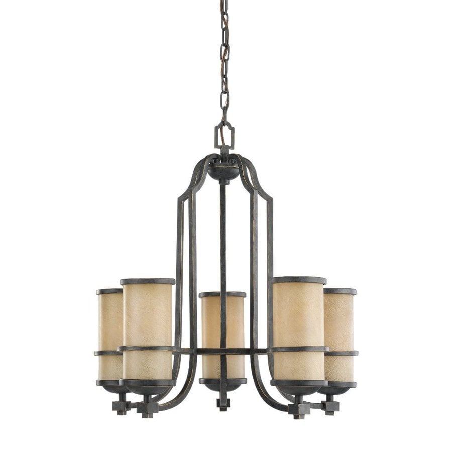 Shop sea gull lighting roslyn 23 in 5 light flemish bronze for Mediterranean lighting fixtures