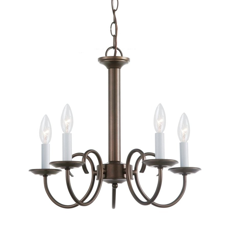 Sea Gull Lighting Holman 18-in 5-Light Bell Metal Bronze Vintage Candle Chandelier