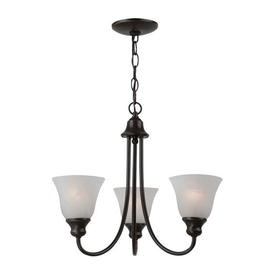 Sea Gull Lighting Windgate 20.25-in 3-Light Heirloom Bronze Country Cottage Shaded Chandelier