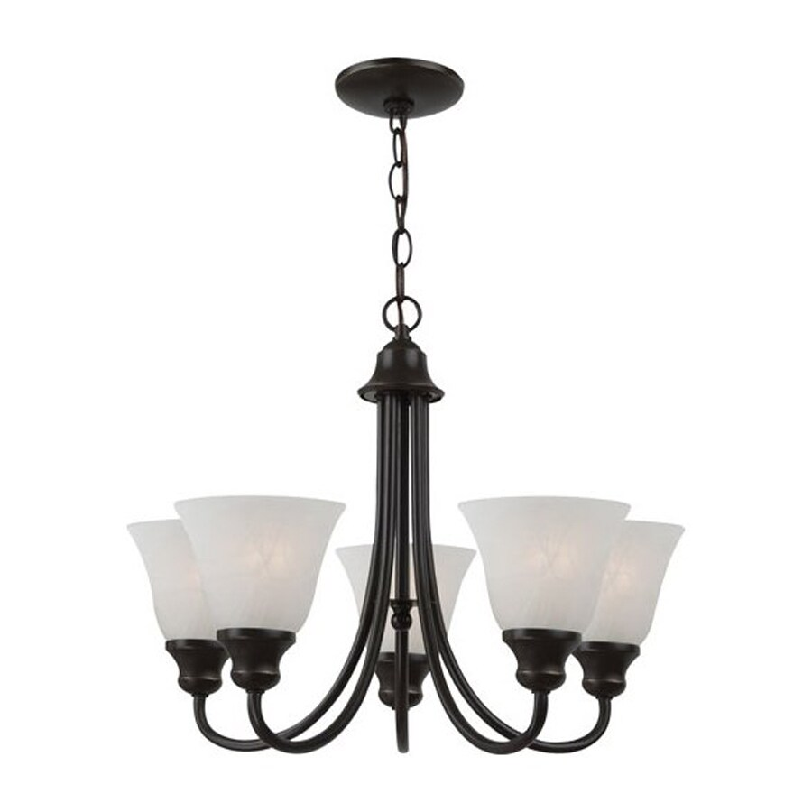 Sea Gull Lighting Windgate 20.25-in 5-Light Heirloom Bronze Country Cottage Shaded Chandelier