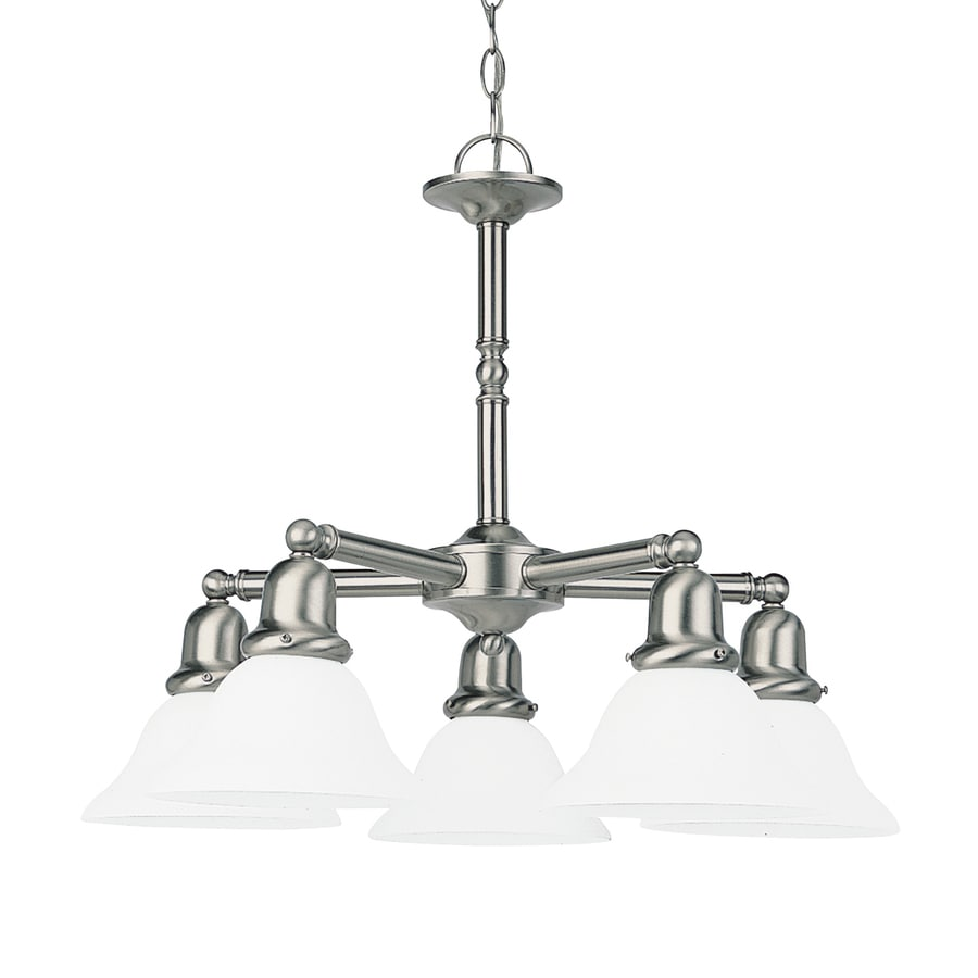 Sea Gull Lighting Sussex 24-in 5-Light Brushed Nickel Industrial Shaded Chandelier