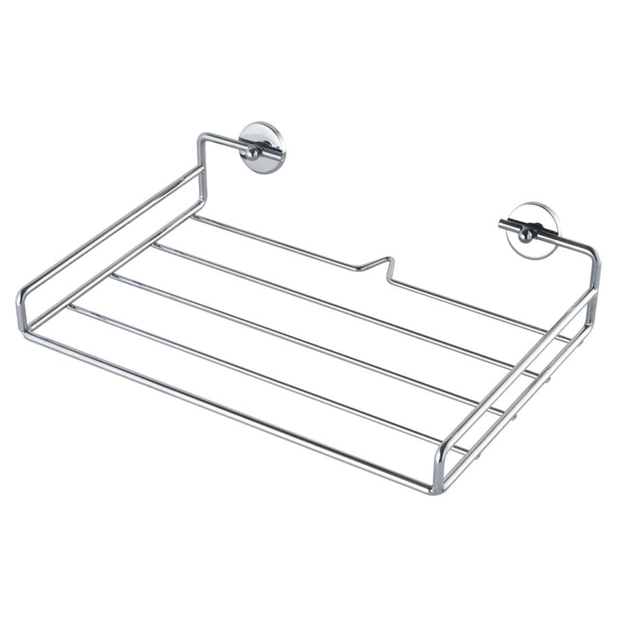 No Drilling Required Baath Plus Chrome Steel Bathroom Shelf
