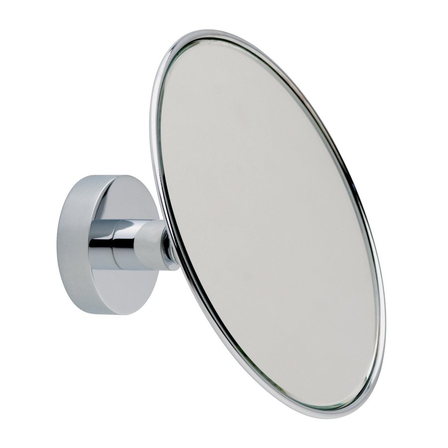 No Drilling Required Baath Plus Chrome-Plated Zinc Magnifying Wall-Mounted Vanity Mirror