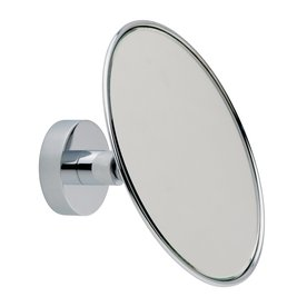 No Drilling Required Baath Plus Chrome Plated Zinc Magnifying Wall Mounted Vanity Mirror