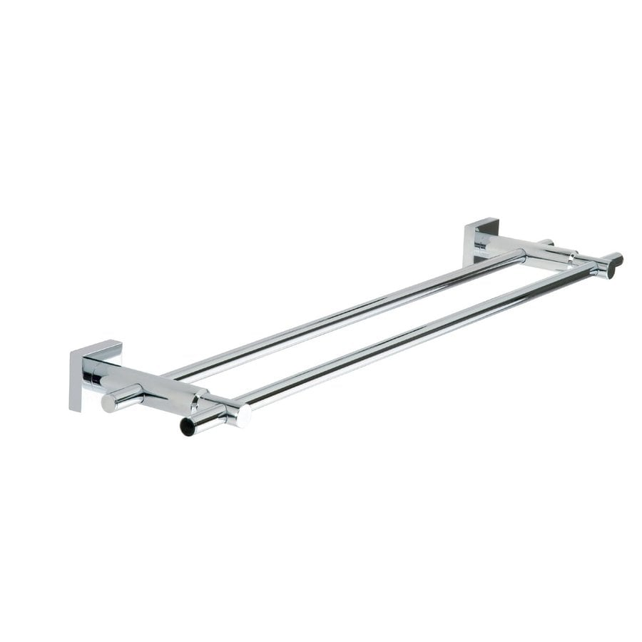 No Drilling Required Hukk 24 In Chrome Double Towel Bar