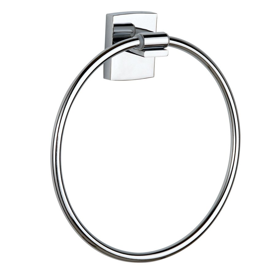 No Drilling Required Klaam Chrome Wall Mount Towel Ring