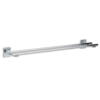 No Drilling Required Klaam 24 In Chrome Wall Mount Double