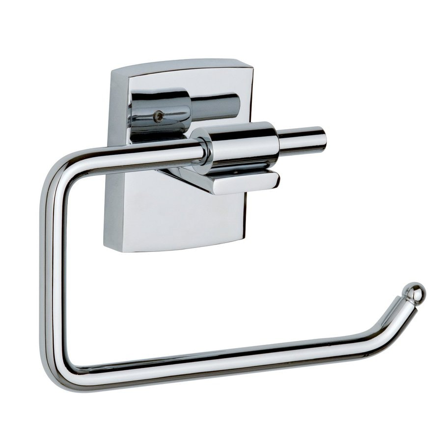 No Drilling Required Klaam Chrome Surface Mount Toilet Paper Holder
