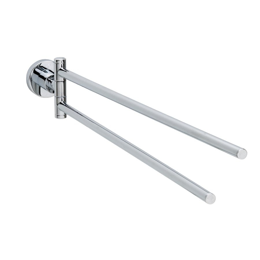 No Drilling Required Loxx Chrome Double Towel Bar (Common: 19-in; Actual: 19-in)