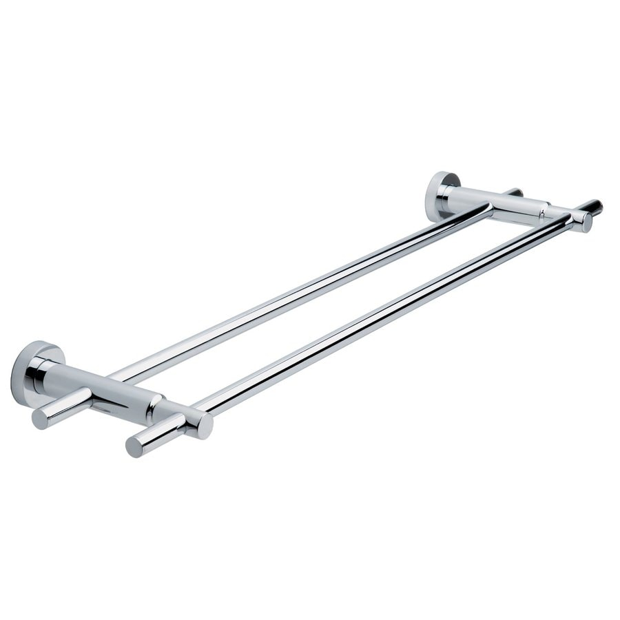No Drilling Required Loxx Chrome Double Towel Bar (Common: 28-in; Actual: 27.5-in)