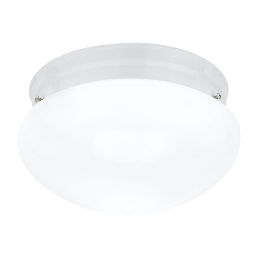 Sea Gull Lighting Webster 7.5-in W White Ceiling Flush Mount Light