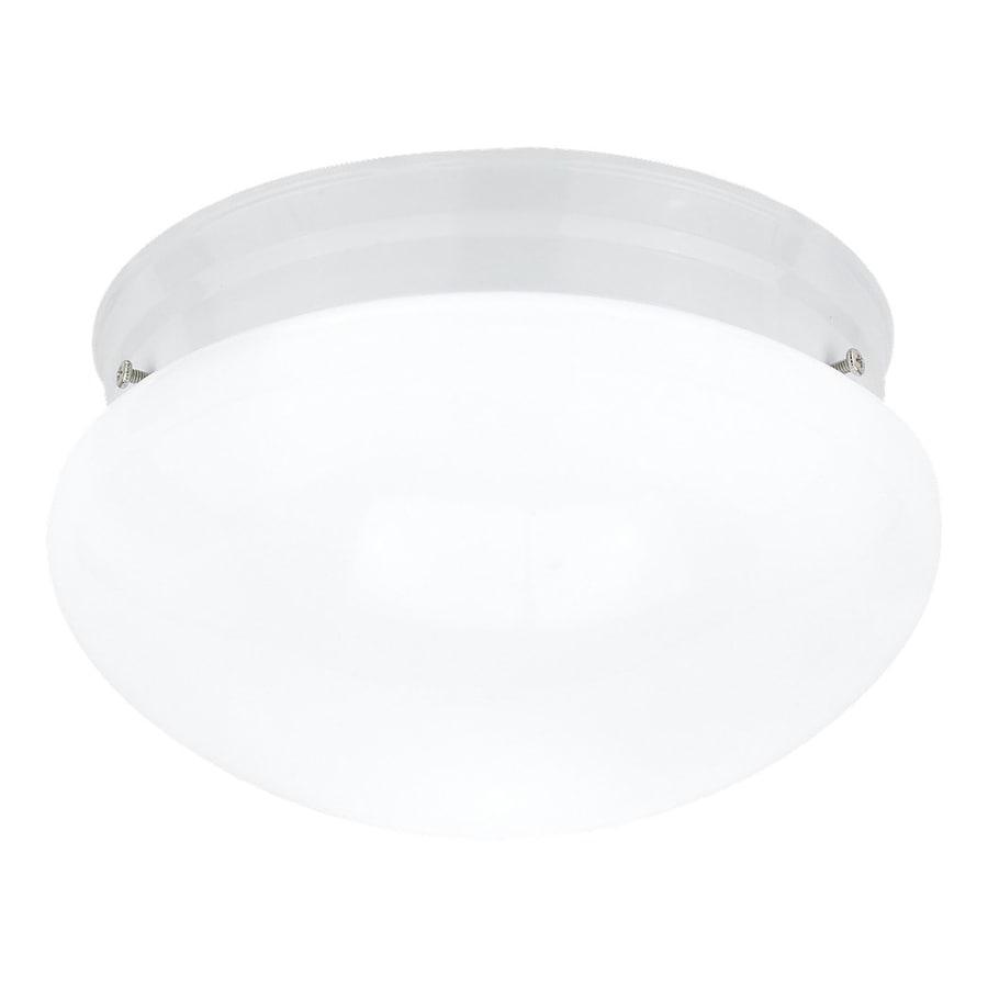 Sea Gull Lighting Webster 9.5-in W White Flush Mount Light