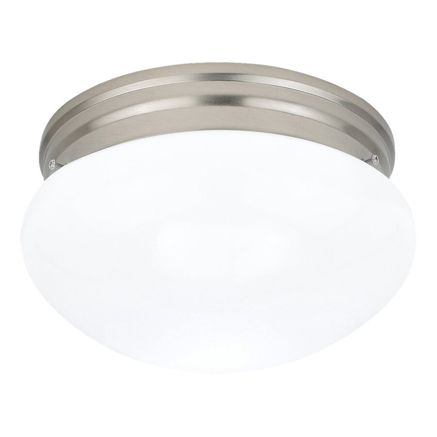 Sea Gull Lighting Webster 9.5-in W Brushed nickel Flush Mount Light