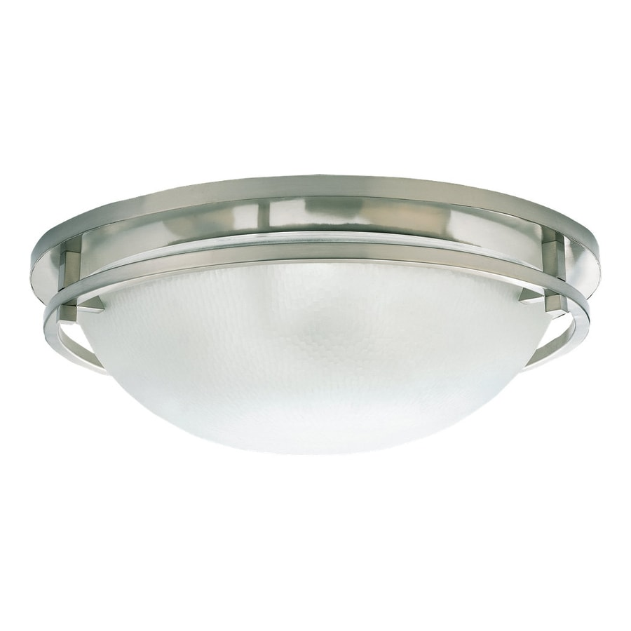 Sea Gull Lighting Eternity 18-in W Brushed Nickel Flush Mount Light