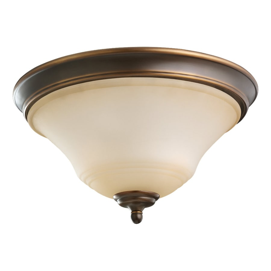 Sea Gull Lighting Parkview 15-in W Russet Bronze Flush Mount Light