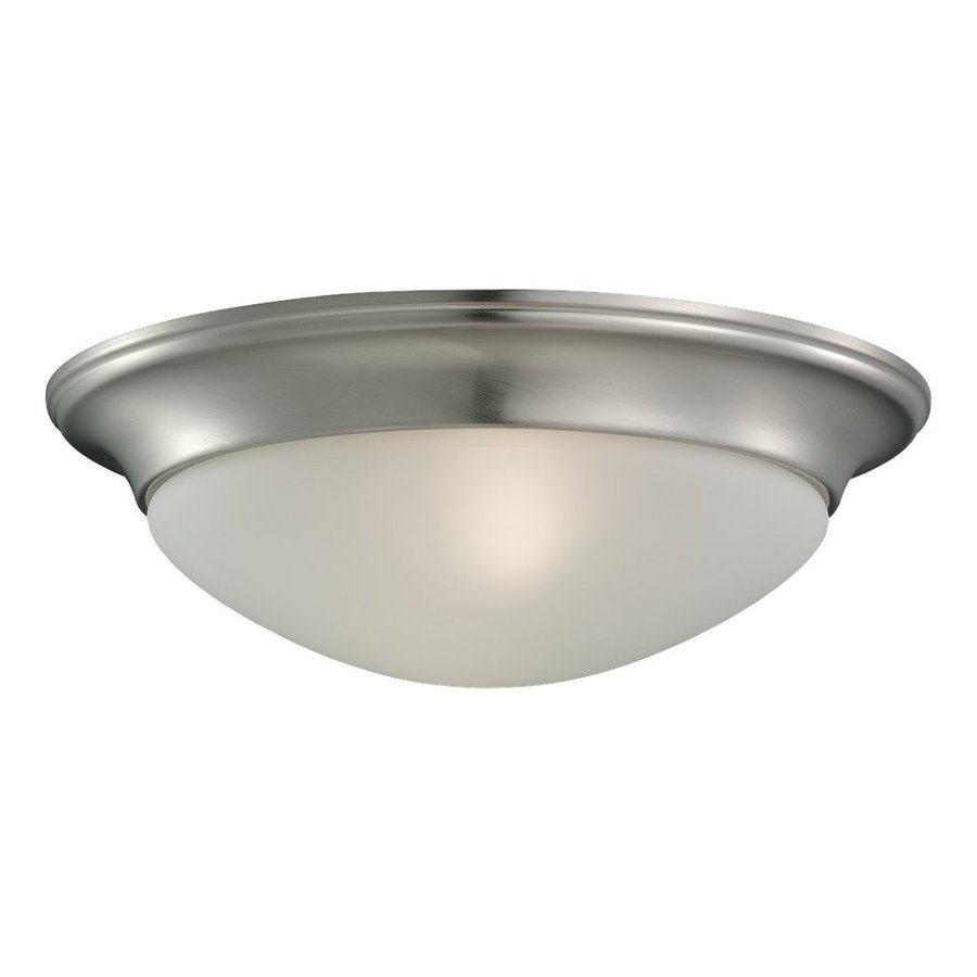 Sea Gull Lighting Nash 14-in W Brushed Nickel Ceiling Flush Mount Light