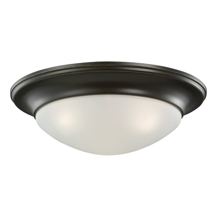Sea Gull Lighting Nash 16.75-in W Heirloom Bronze Ceiling Flush Mount Light