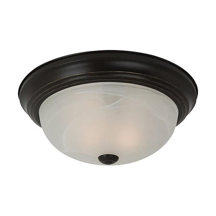 Sea Gull Lighting Windgate 11.5-in W Heirloom Bronze Flush Mount Light