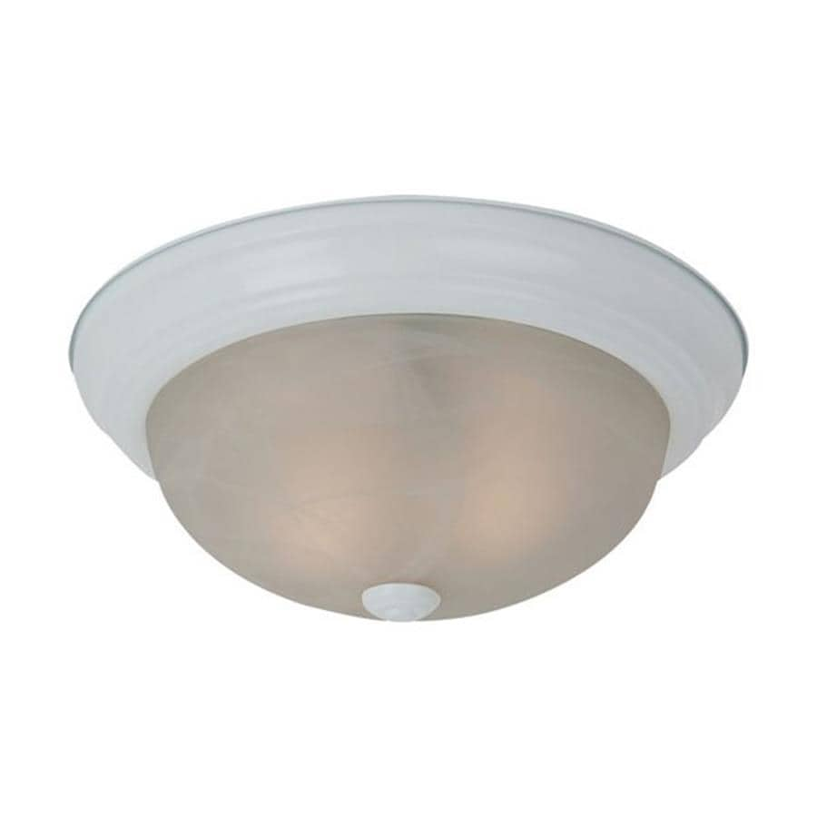 Sea Gull Lighting Windgate 13-in W White Flush Mount Light