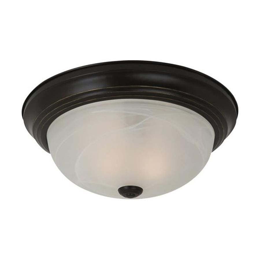 Sea Gull Lighting Windgate 13-in W Heirloom Bronze Flush Mount Light