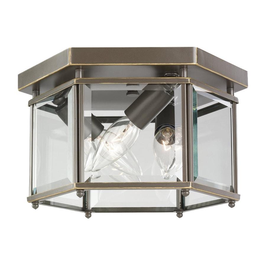 Sea Gull Lighting Bretton 10-in W Heirloom Bronze Flush Mount Light