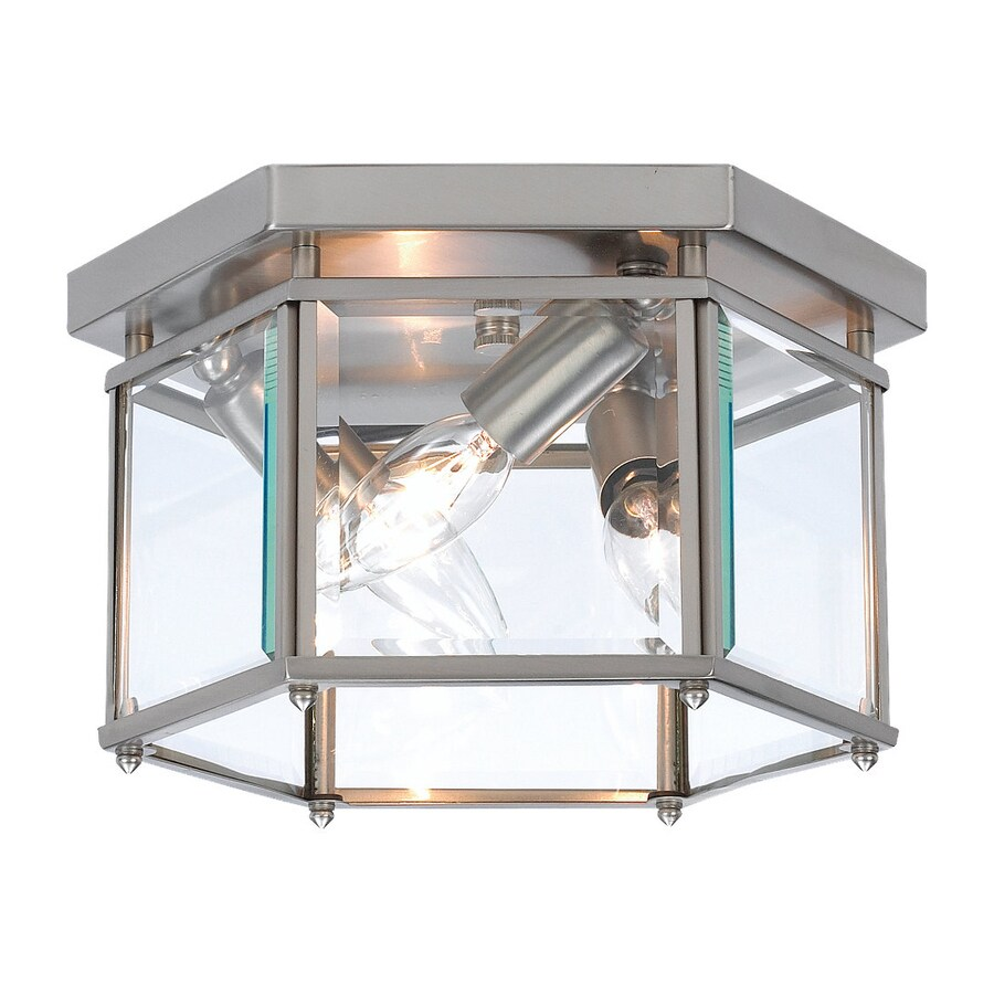 Sea Gull Lighting Bretton 10-in W Brushed Nickel Ceiling Flush Mount Light