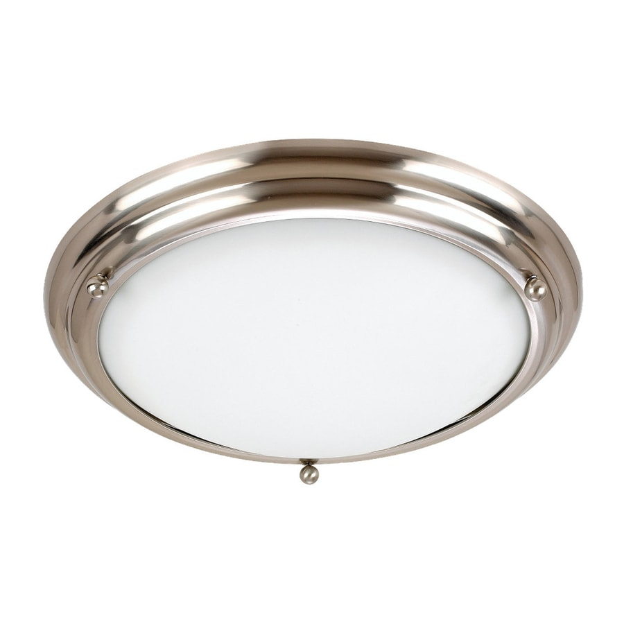 Sea Gull Lighting Centra 21.25-in W Brushed Stainless Flush Mount Light