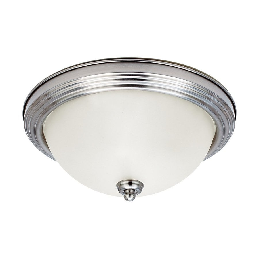 Sea Gull Lighting Ceiling Flush Mount 10.5-in W Brushed Nickel Flush Mount Light