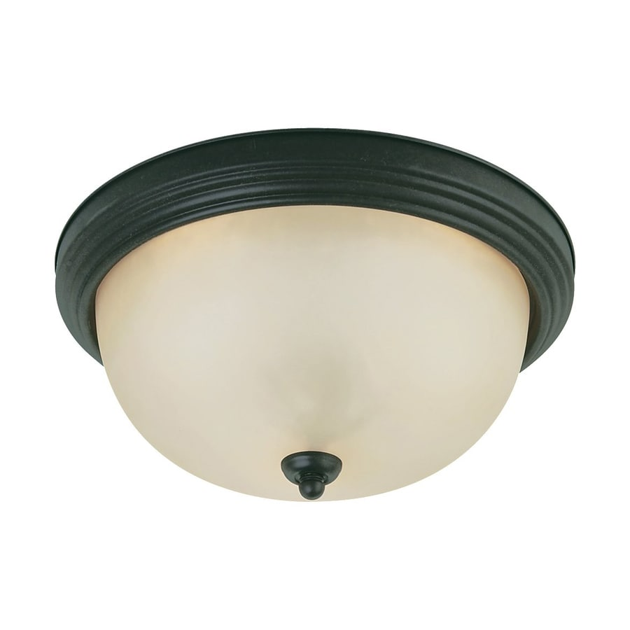 Sea Gull Lighting Del Prato 12.5-in W Chestnut Bronze Ceiling Flush Mount Light