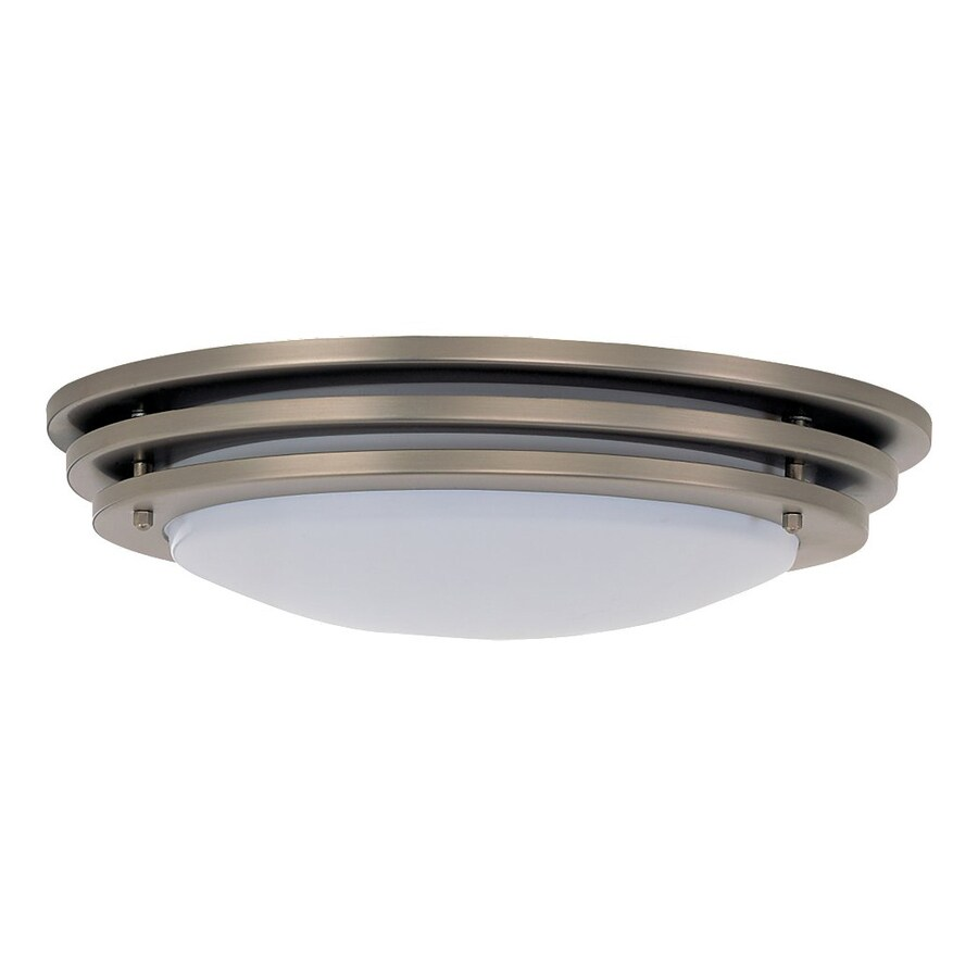 Sea Gull Lighting Nexus Brushed Nickel Flush Mount Fluorescent Light ENERGY STAR (Actual: 20-in)