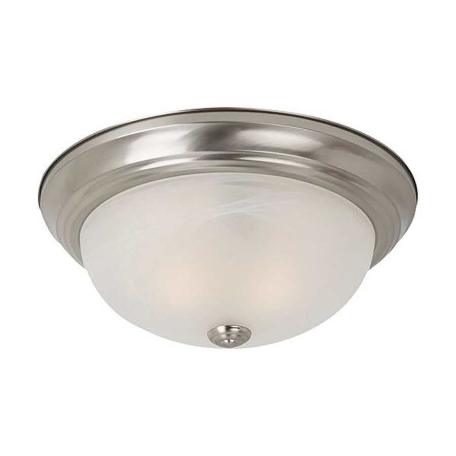 Sea Gull Lighting Windgate Brushed Nickel Flush Mount Fluorescent Light ENERGY STAR (Actual: 11.5-in)