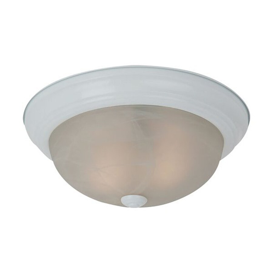 Sea Gull Lighting Windgate White Flush Mount Fluorescent Light ENERGY STAR (Actual: 15-in)