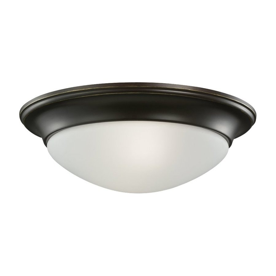 Sea Gull Lighting Nash Heirloom Bronze Flush Mount Fluorescent Light ENERGY STAR (Actual: 14-in)