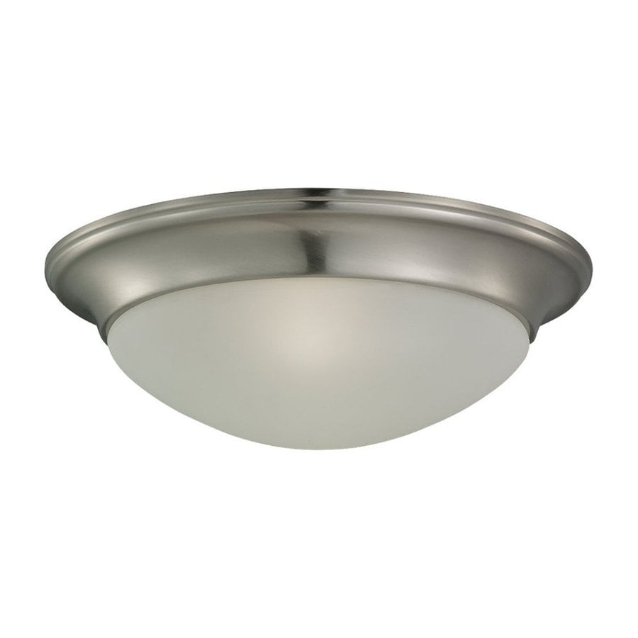 Sea Gull Lighting Nash Brushed Nickel Flush Mount Fluorescent Light ENERGY STAR (Actual: 14-in)