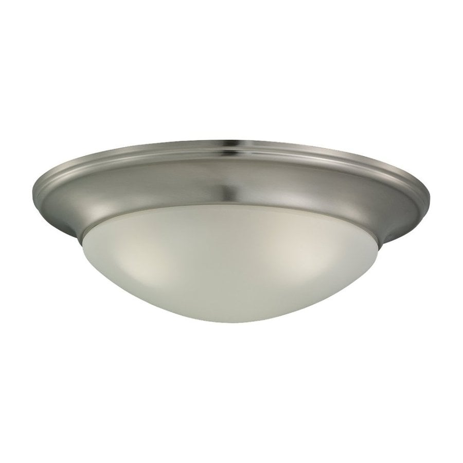 Sea Gull Lighting Nash Brushed Nickel Flush Mount Fluorescent Light ENERGY STAR (Actual: 16.75-in)