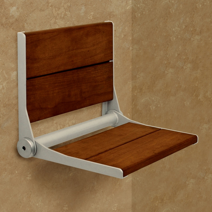 Shop Health Craft Brazillian Walnut Wood Wall Mount Shower Chair at ...