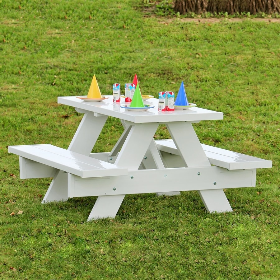 Dura-Trel 4-ft White Rectangle Kids Picnic Table