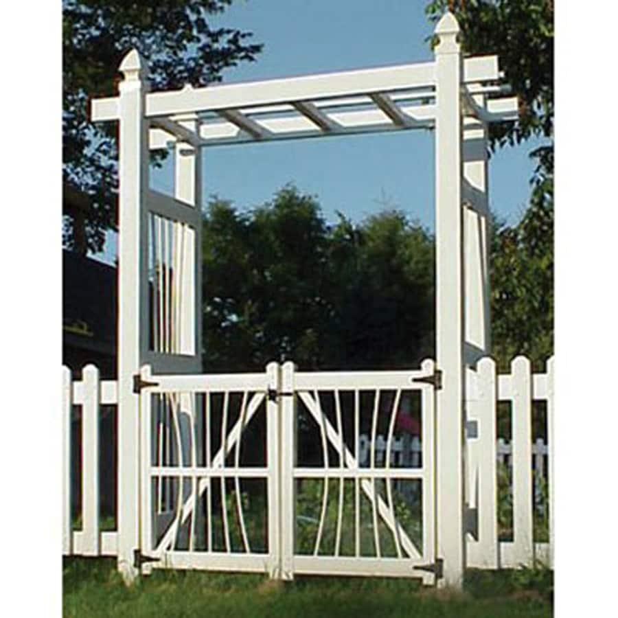 Dura-Trel White PVC Vinyl Gate