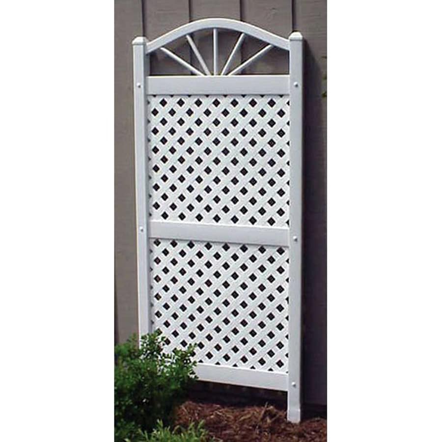 Shop Dura Trel 28 in W x 62 in H White Traditional Garden Trellis at
