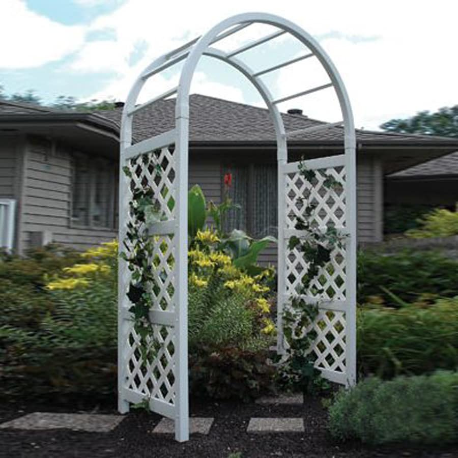 Incroyable Dura Trel 4.5 Ft W X 7.5 Ft H White Garden Arbor