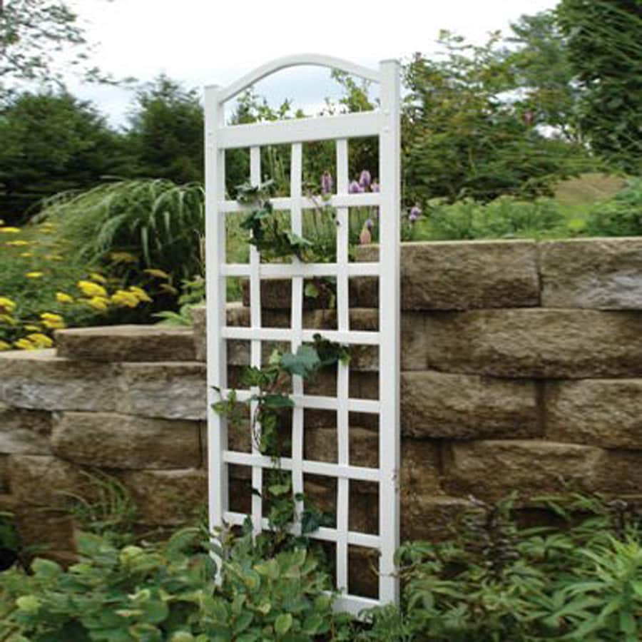 Dura-Trel 28-in W x 76-in H White Traditional Garden Trellis