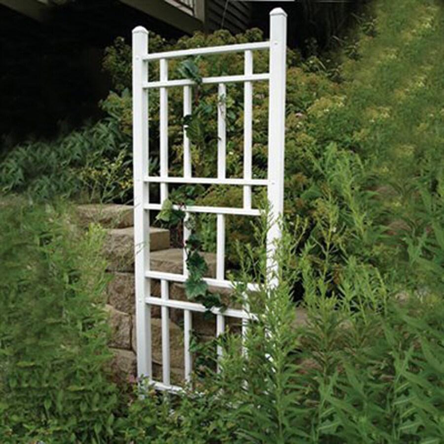 Dura-Trel 28-in W x 75-in H White Garden Trellis