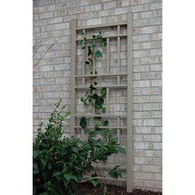 Dura Trel 28 In W X 75 In H Traditional Garden Trellis